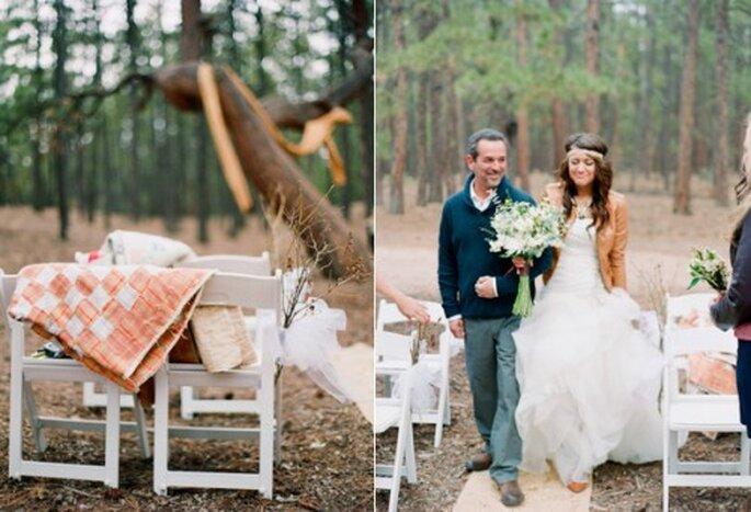 Complementa tu look de novia con una chaqueta de cuero - Foto Cassidy Brooke