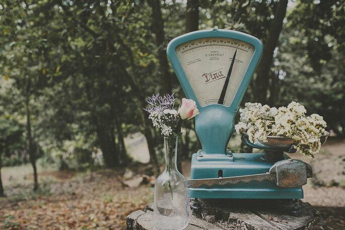 Besondere Hochzeitsdekoration lässt die Braut dahinschmelzen. Foto: Ravelo Inspiración