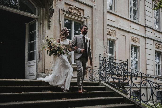 Bautpaar First Look Hochzeitstag