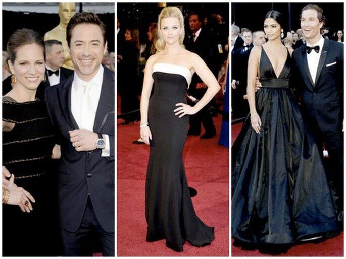De izquierda a derecha: Susan & Robert Downey Jr., Reese Witherspoon, Camila Alves & Matthew McConaughey