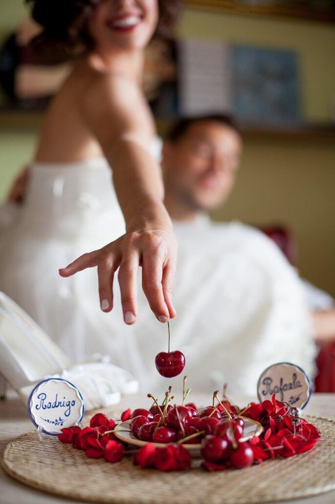 wiśnie i czereśnie na ślubie