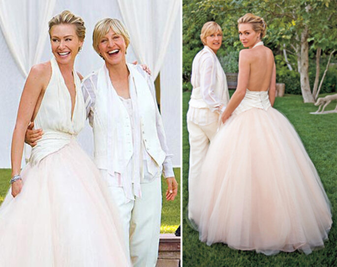 Our Favorite Celebrities in Colorful Wedding Dresses