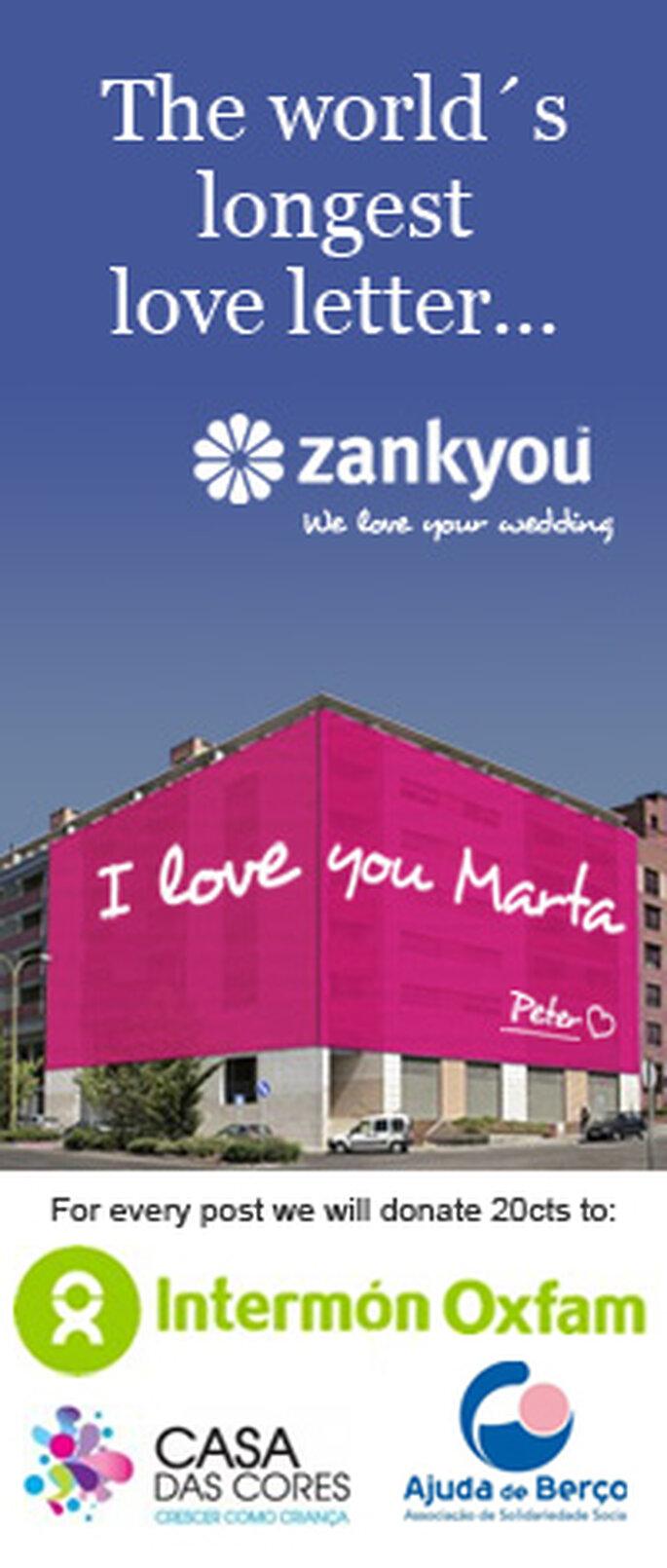 A Carta de Amor mais comprida do Mundo by Zankyou