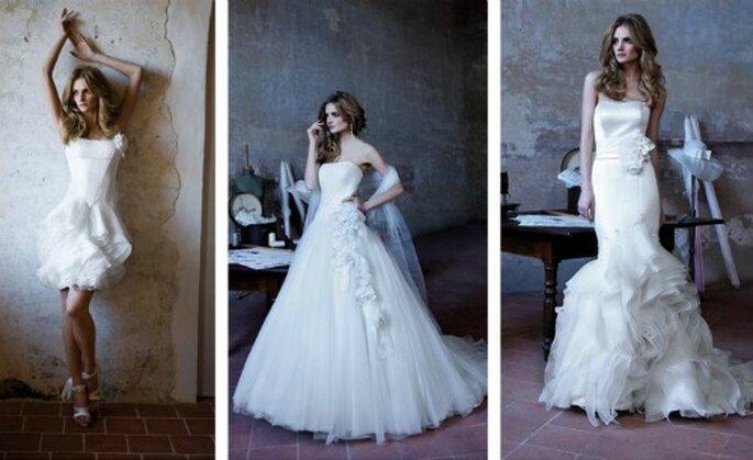 Ogni abito è unico per un dettaglio, un particolare non banale. Alessandra Rinaudo Collezione 2012