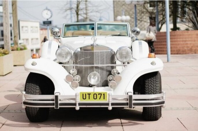 Autos clásicos para boda. Foto de Nadia Meli.