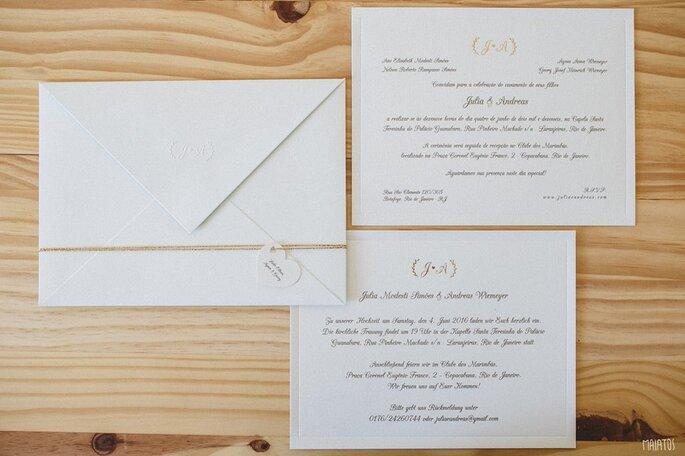 Convite clássico e romântico