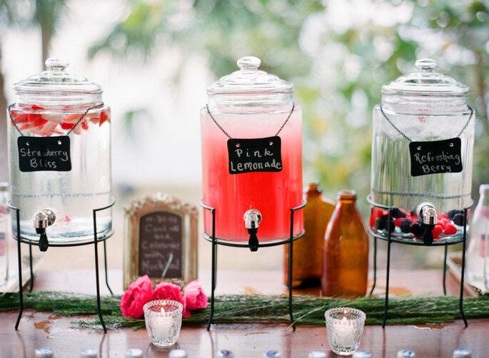 Limonadas de sabores en celebración de boda