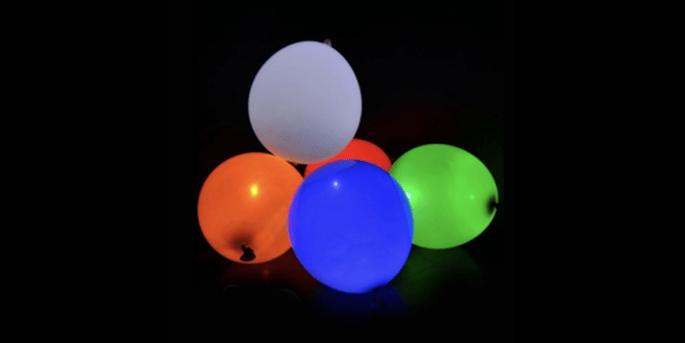 Ballons à LED coloré 5 pièces