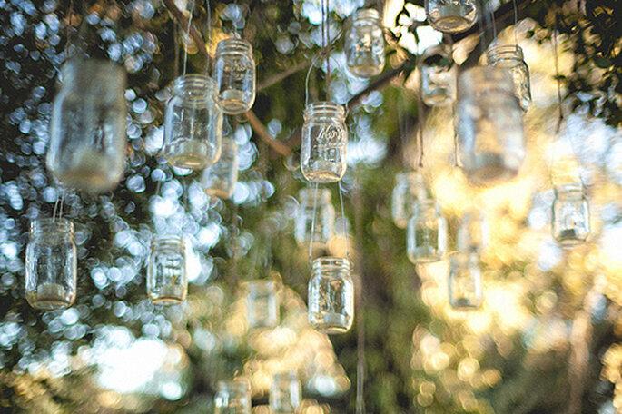 Objetos reciclados para tu boda ecológica. Fotos de One Love Photo