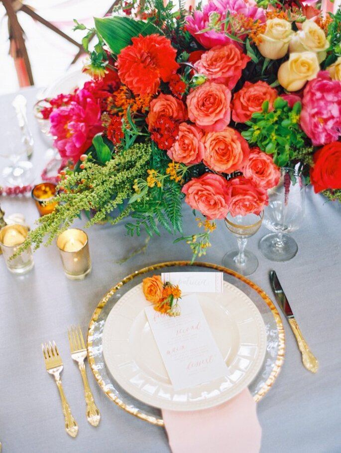 Выбрать цветовую гамму свадьбы: 10 советов от Zankyou- Katie Stoops Photography