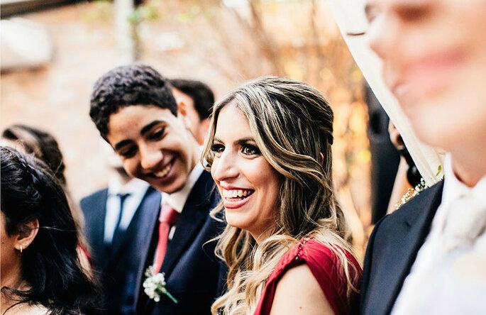 Flavia Valsani gravata e vestido