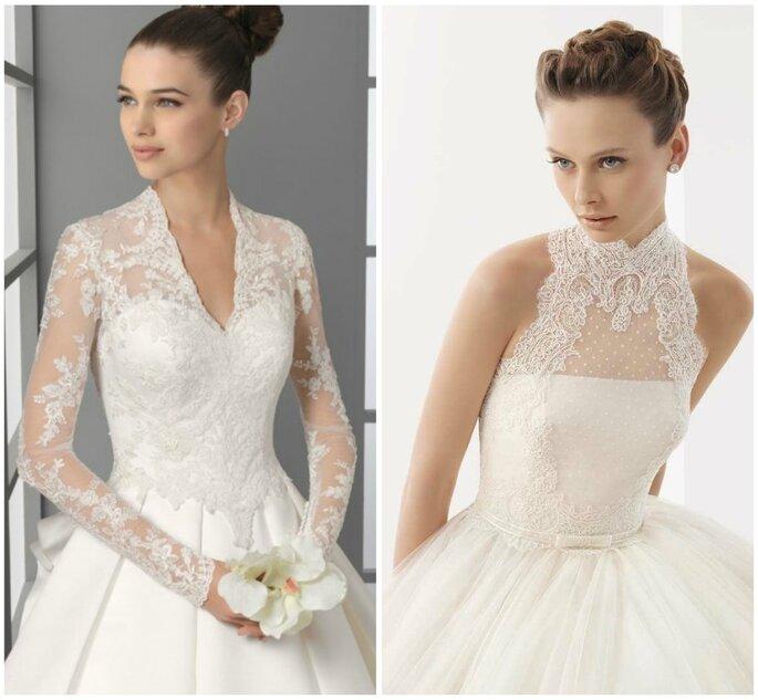 Vestidos de novia con encaje, clara tendencia de 2012. Fotos: Rosa Clará