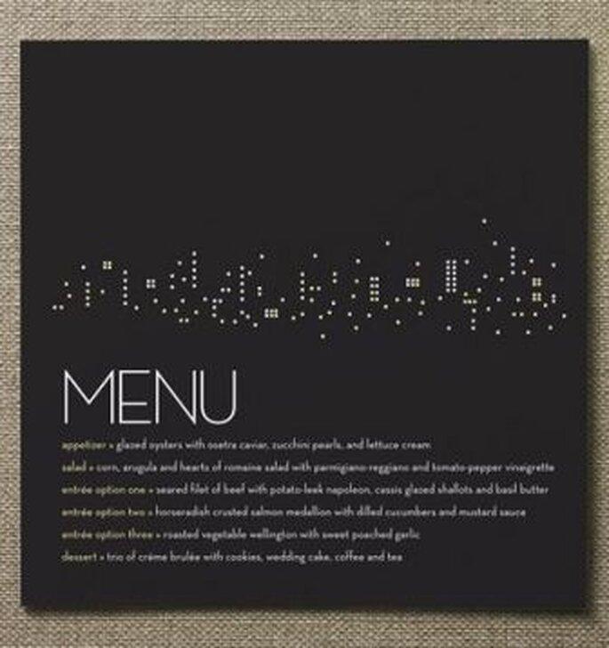 Tarjetas de menú para tu boda