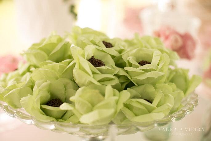 Forminhas verdes dos doces