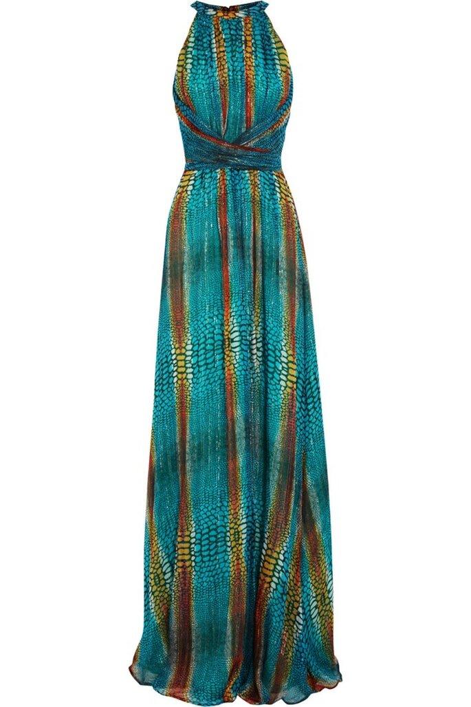 Vestido de fiesta con estampado multicolor de Issa - Foto Net a Porter