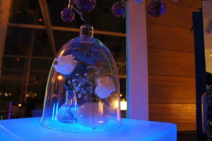 Mariage en hiver : on mise sur une décoration de couleur violette - Photo : One Day Event