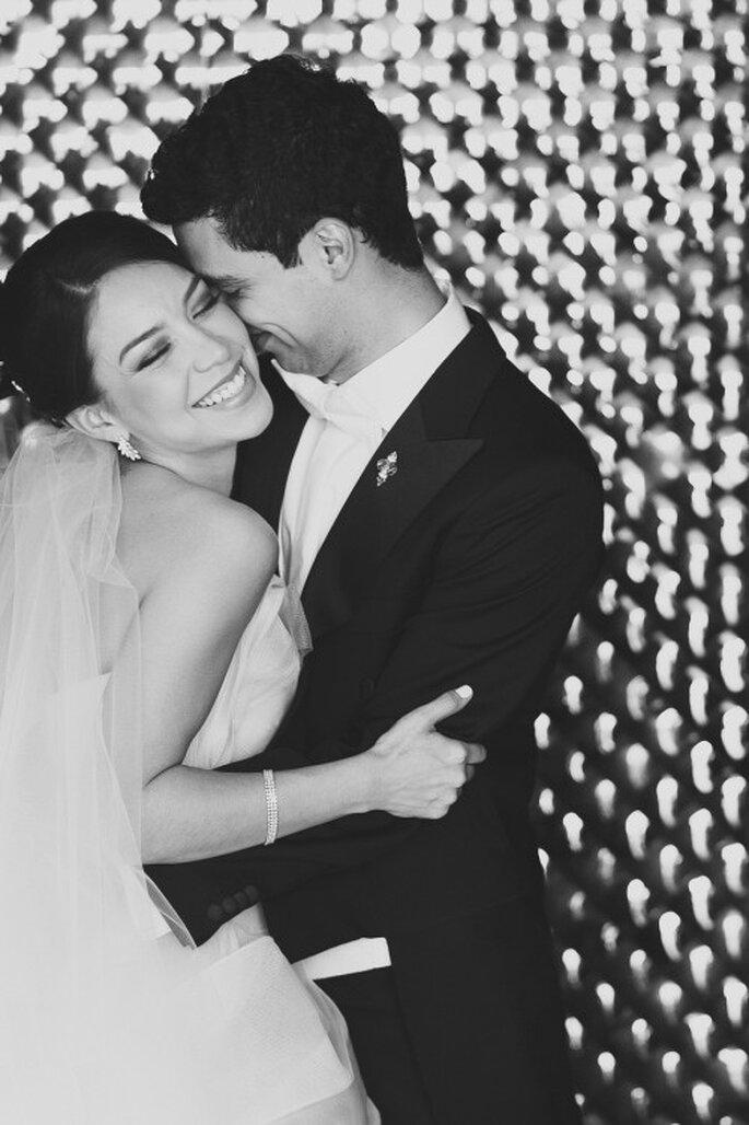 Irma y Javi en su sesión de fotos en blanco y negro - Foto Pepe Orellana