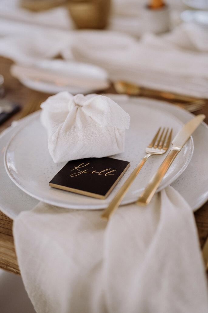 Skandi Chic - Hochzeitskonzept im skandinavischen Stil Tischdekoration