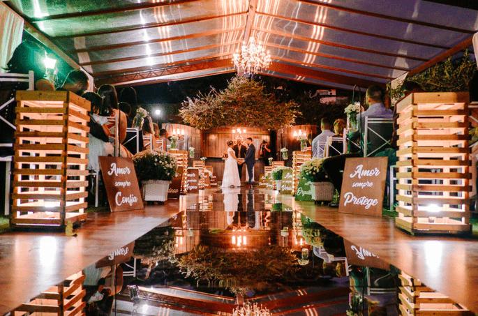 Cerimônia no Pontal da Lagoa