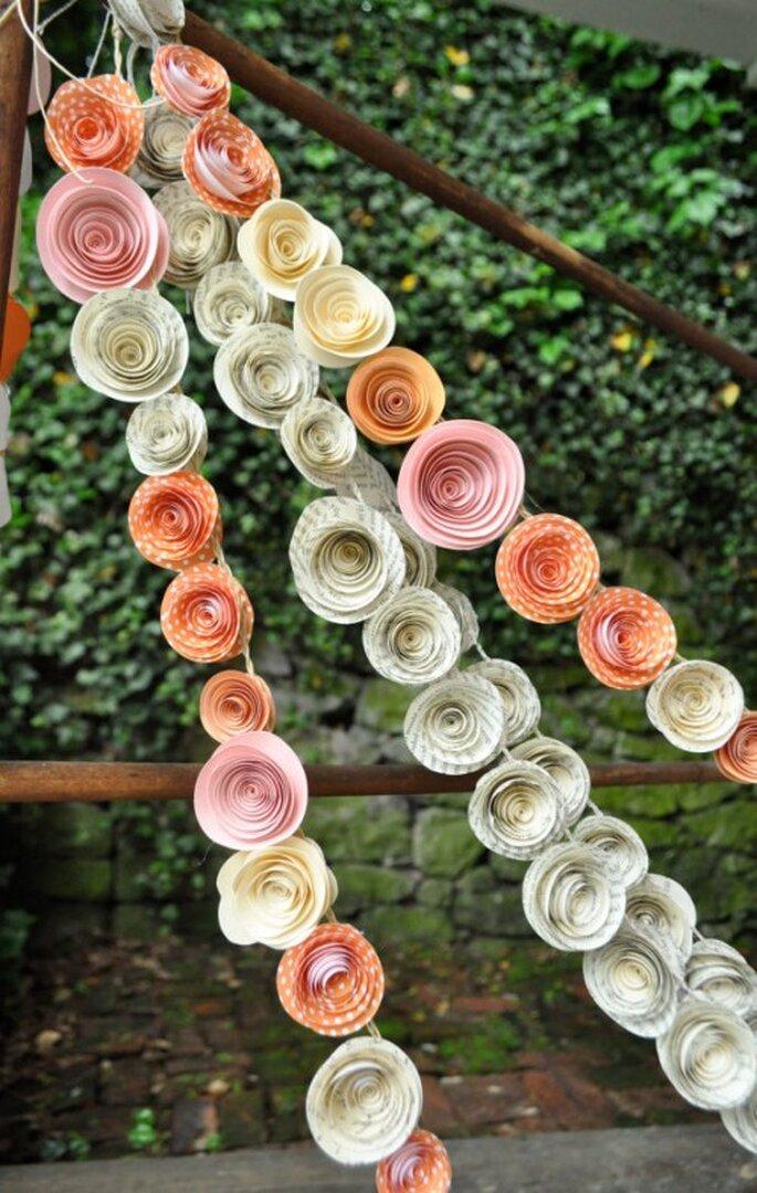 juegos de texturas en la decoración de boda 2014 - Foto Lille Syster