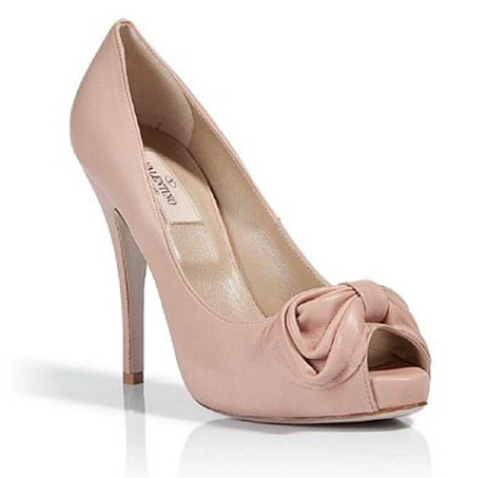 Peep toe color nude de Valentino