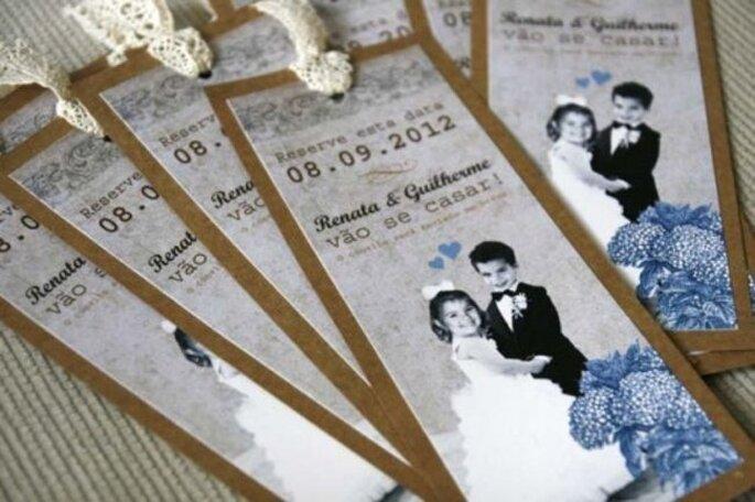 Convite de casamento diferente