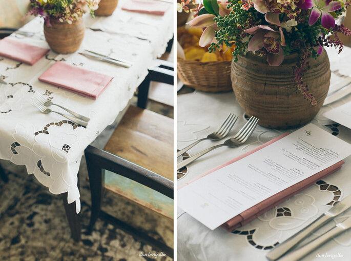 Toalha de mesa de renda