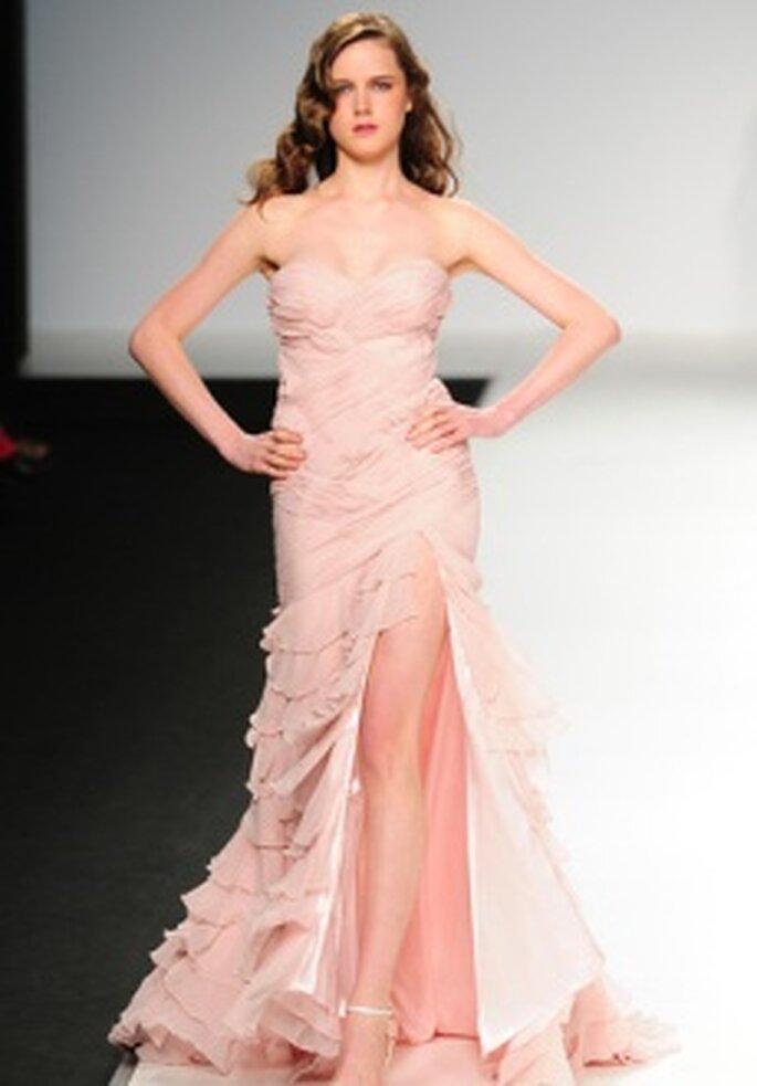 Cymbeline 2011 - Langes Kleid aus Organza, hoher Beinschlitz