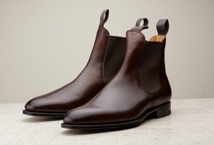Zapato para novio, botas Chelsea