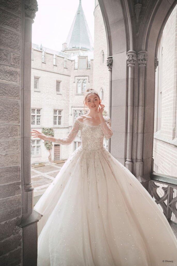 Vestido de novia estilo Cenicienta de Disney