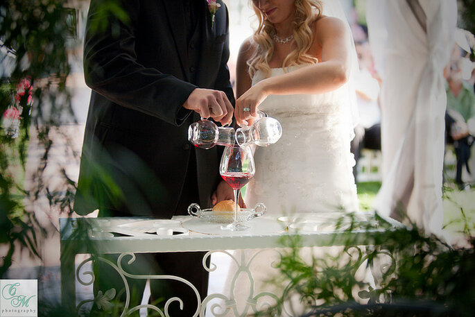 Ceremonia del vino. Foto: Eileen Rivard