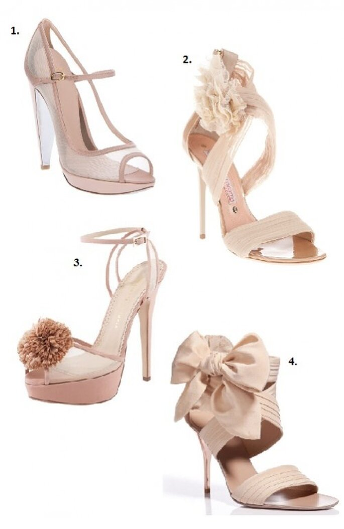 Chaussures de mariage roses