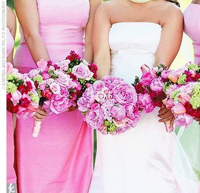 Bouquets de noiva cor-de-rosa