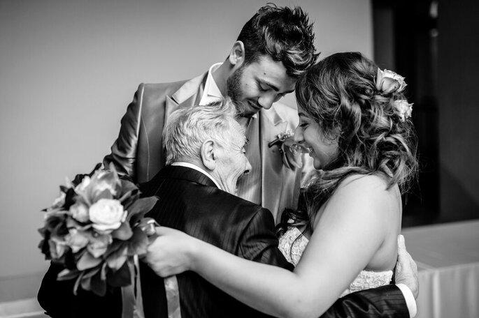 Riccardo Bonetti Photography - sposi e nonno in bianco e nero