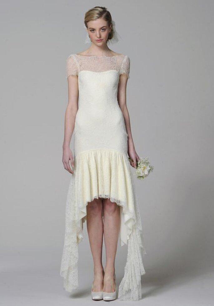 vorne kurz, hinten lang - wandelbares Hochzeitskleid Marchesa