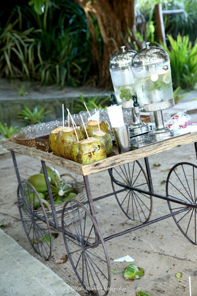 Bar de refrescos casamento