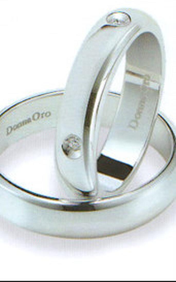 Fedi DonnaOro in oro bianco e diamanti 5 carati