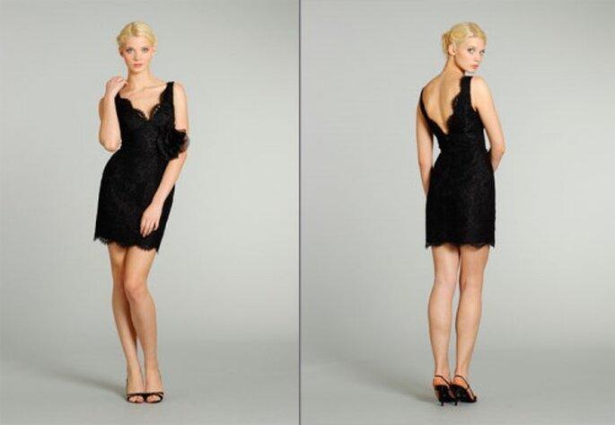 Vestido corto en color negro para damas de boda - Foto Noir by Lazaro