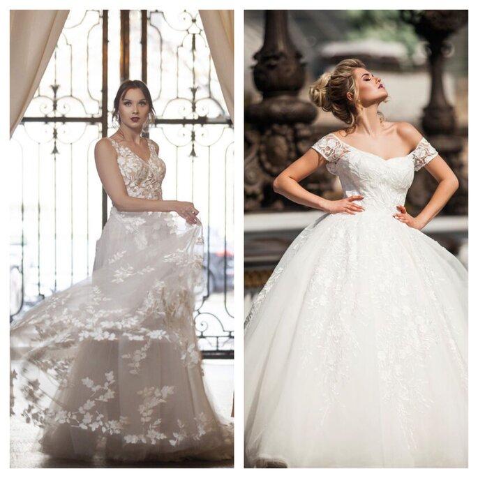 Robes de mariée bouffante en dentelle
