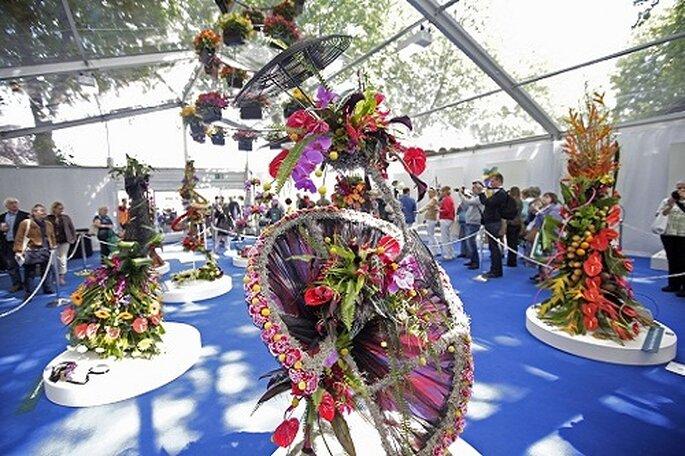 Una de las exhibiciones florales de Chelsea Flower Show en 2011. Foto: Chelsea Flower Show.