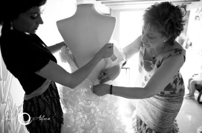 Cómo elegir el vestido de novia. Foto: Josep Álfaro