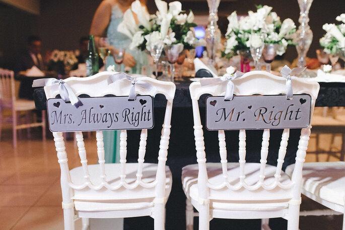Cadeira noivos