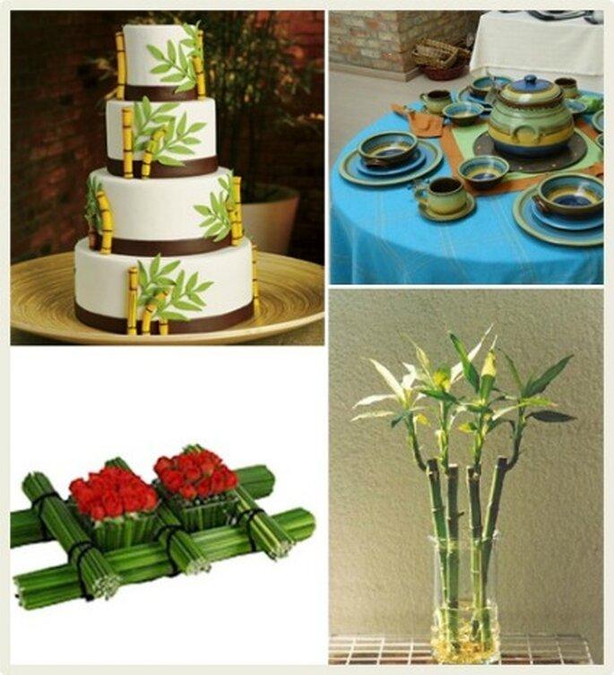 La originalidad de decorar el salón de la boda en estilo rústico