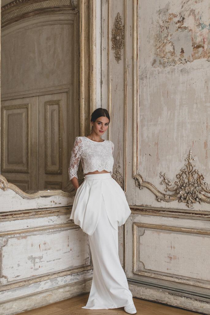 Jupe et crop top pour une mariée - tenue originale pour vous marier