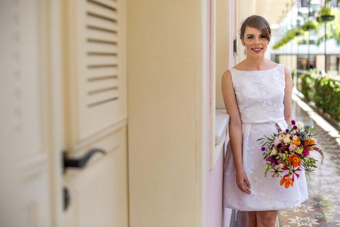 noiva de vestido curto