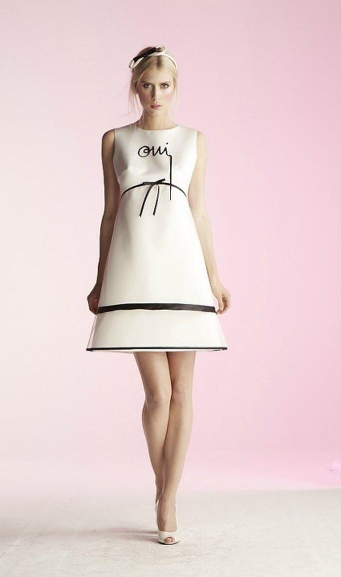 Robe de mariée courte Suzanne Ermann, modèle Marie Oui - Photo : Suzanne Ermann