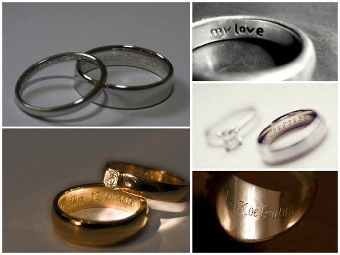 Grabar el interior de tu anillo de matrimonio