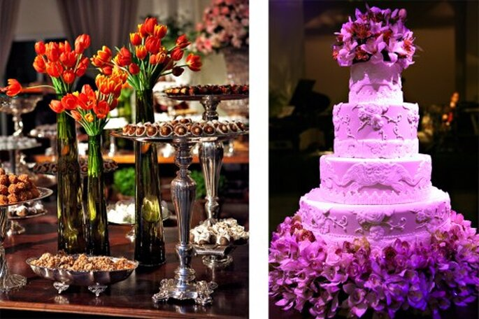 Tendencia en decoracion de bodas en colores neon. Fotografîa Andrea Paccini