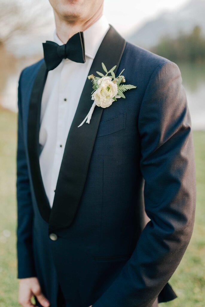 Anzug Bräutigam mit Ansteckblume