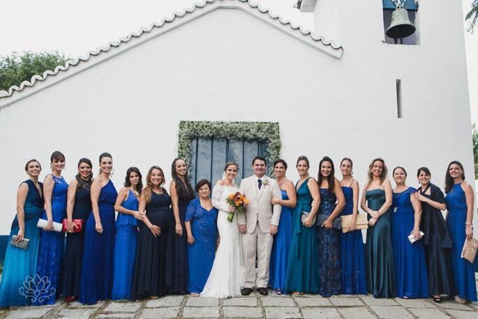 noivos e madrinhas